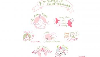 DRIFT Seven social principles for online meetings: an illustrated summary